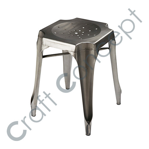 GRAY METAL STOOL