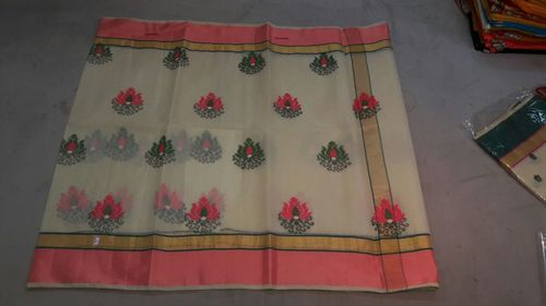 Embroidered Kota Doria Saree