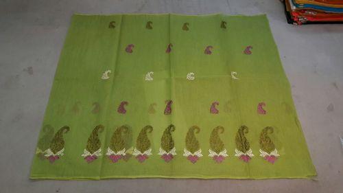 Leaf Print Embroidery Work Saree