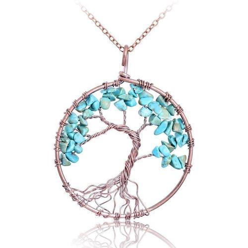 7 Chakra Tree Of Life Pendant