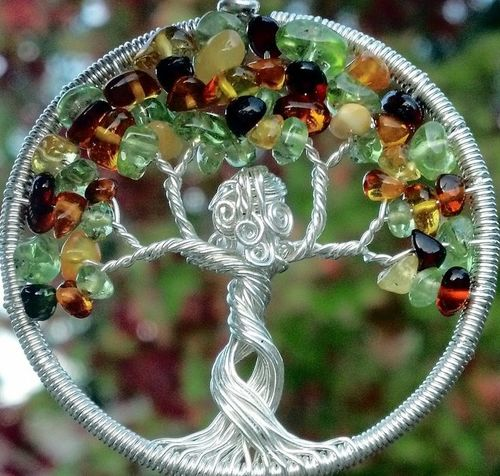 Mother Nature Welcomes Autumn Tree of Life Pendant