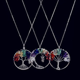 Tree of Life Necklaces 7 Chakra Pendant