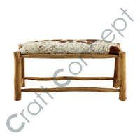 GOAT SKIN LEATHER BENCH