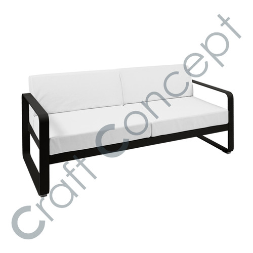 WHITE FABRIC SOFA BENCH
