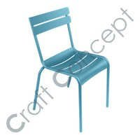 POOLSIDE BLUE METAL CHAIR