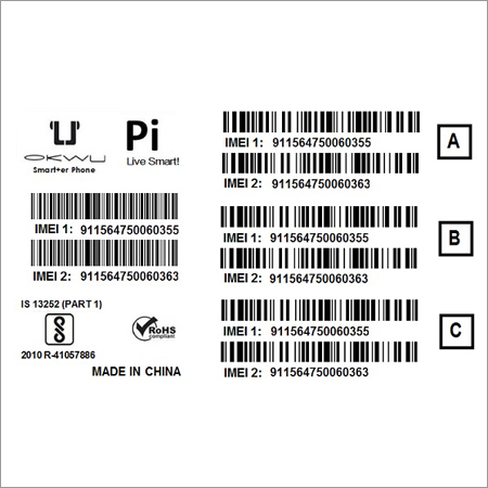 IMEI Barcode Stickers for Mobile Manufacturer, IMEI Barcode