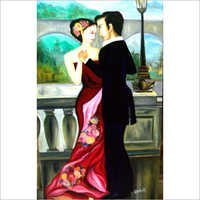 Romantic Dance Couple Oil Painting