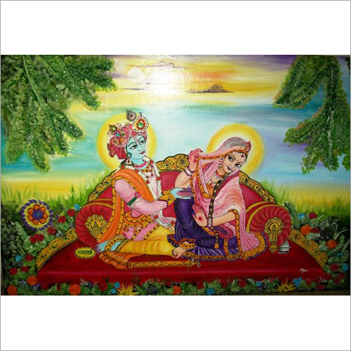 Beautiful Radha Krishna Painting