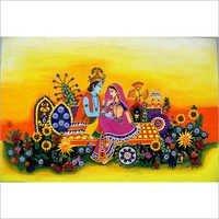 Canvas Radha Krishna Painting