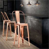 Copper Finished Bar Chair
