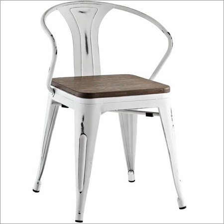 Cafe Chair With Wooden Seat