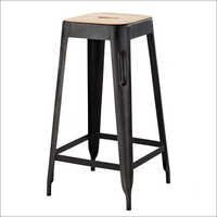 Bar Stool With Wooden Seat