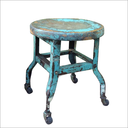 Iron Stool With Wheels
