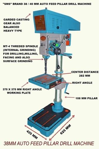 40 MM Auto Feed Pillar Drill Machine