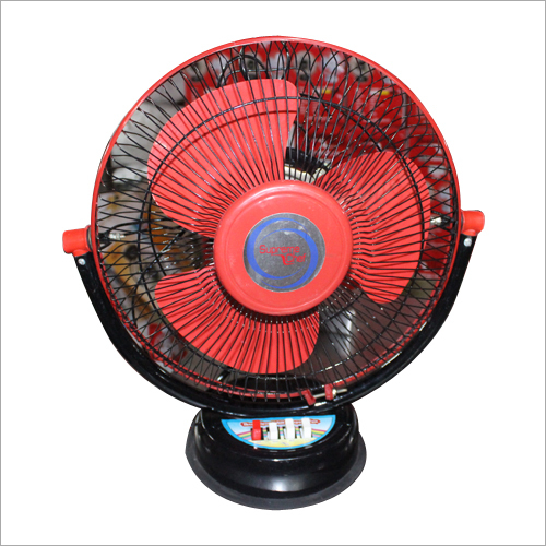 Red Colour 3 Blades Table Fan