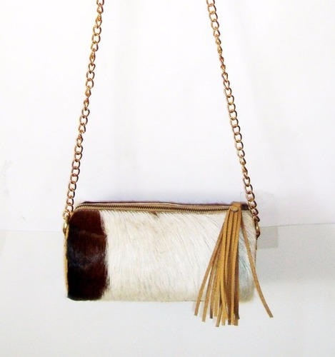 Hair Leather Sling Bag