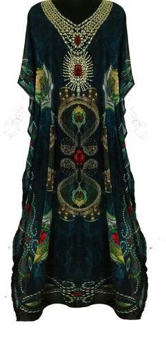 Silk Printed Kaftan