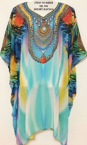 Chiffon Digital Printed Kaftan