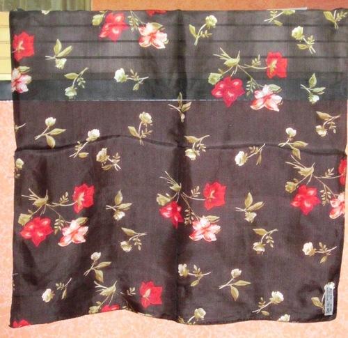 100% Silk Tabby Printed Bandana