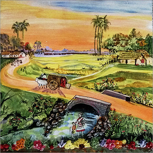 Village Landscape Painting