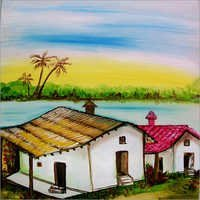Land Scape Colored Painting