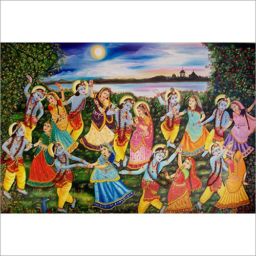 Authentic Radha Krishna Maharaas Painting