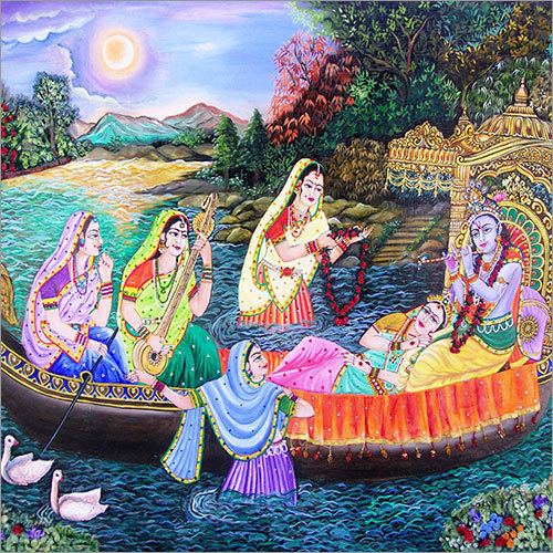 Authentic Radha Krishna  Painting