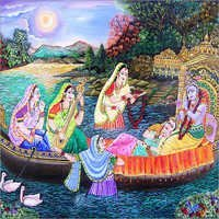 Radha Krishna Beautiful Painting