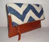 Designer Folding Leather Clutch