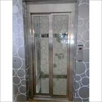SS Framed Glassed Telescopic Automatic Door