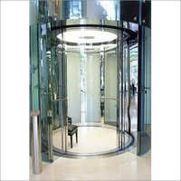 Circular Cabin With Circular Automatic Door Fully Glassed