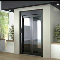 Glassed Door With Stainless Steel Framed (Black)