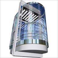 Half Circular Glassed Lift Cabin