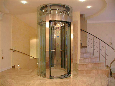 Luxury Circular Glassed Lift Cabin