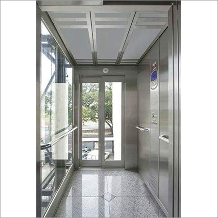 Partially Glazed Stainless Steel Lift Cabin