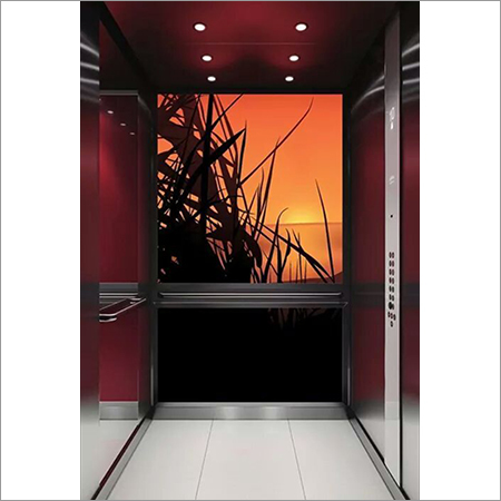 Passenger Lift Cabin With Backdrop