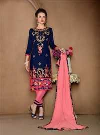 Designer Embroidery Work Semi Stitched Suits