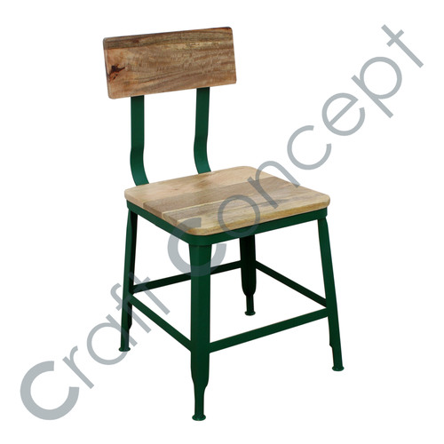 MANGO & GREEN METAL CHAIR