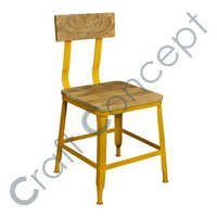 MANGO & YELLOW METAL CHAIR