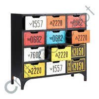 MULTICOLOR IRON DRAWER CHEST