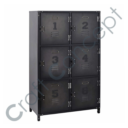 6 METAL LOCKER CHEST