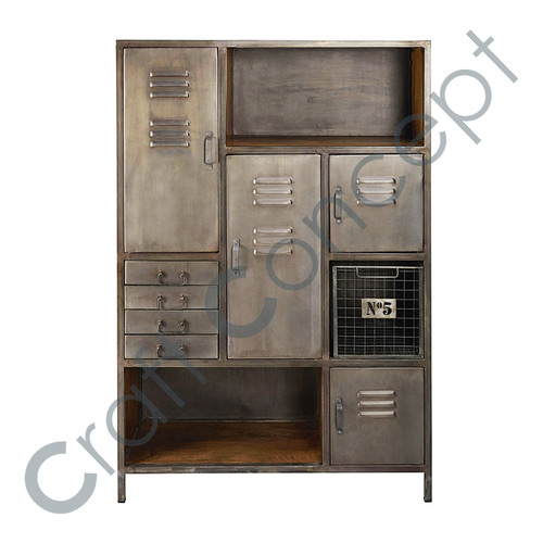 METAL & MANGO 4 DRAWER CHEST