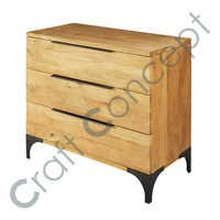 MANGO WOOD & METAL DRAWER CHEST