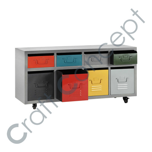 MULTICOLOR METAL DRAWER CHEST