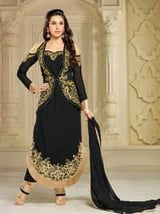 Heavy Designer Embroidery Work Semi Stiched Suit