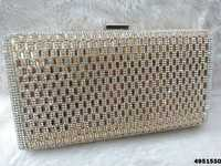 New Designer Sparkle With Stone Box Clutch