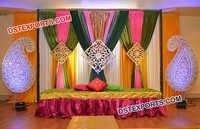 Paisley Props Decoration for Mehandi Stage