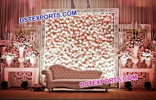 Beautiful Decorated Flower Panel Stage