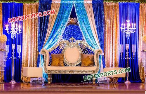 Elegant Marriage Stage Backdrop Decoration