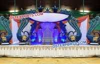 Indian Fiber Carved Mandap for Shadi